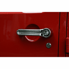 ( 1331112 ) Door Handle Cover Kit, Chrome, 07-18 Jeep Wrangler Unlimited by Rugged Ridge
