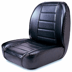 ( 1340001 ) Low-Back Front Seat, Non-Recline, Black, 55-86 Jeep CJ Models by Rugged Ridge