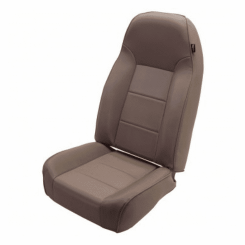 ( 1340104 ) High-Back Front Seat, Non-Recline, Tan, 76-02 Jeep CJ and Wrangler by Rugged Ridge