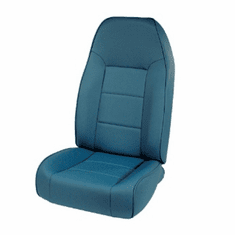 ( 1340105 ) High-Back Front Seat, Non-Recline, Blue, 76-02 Jeep CJ and Wrangler by Rugged Ridge