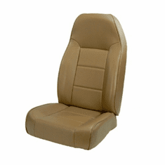 ( 1340107 ) High-Back Front Seat, Non-Recline, Nutmeg, 76-02 Jeep CJ and Wrangler by Rugged Ridge