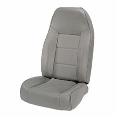 ( 1340109 ) High-Back Front Seat, Non-Recline, Gray, 76-02 Jeep CJ and Wrangler by Rugged Ridge