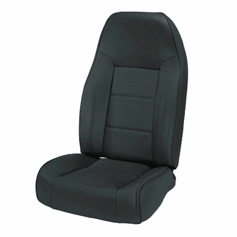 ( 1340115 ) High-Back Front Seat, Non-Recline, Black Denim 76-02 Jeep CJ, Wrangler by Rugged Ridge