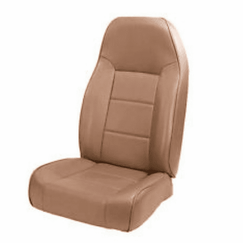 ( 1340137 ) High-Back Front Seat, Non-Recline, Spice, 76-02 Jeep CJ and Wrangler by Rugged Ridge