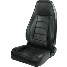 ( 1340201 ) High-Back Front Seat, Reclinable, Black, 76-02 Jeep CJ and Wrangler by Rugged Ridge