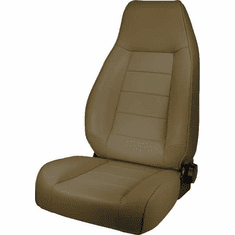 ( 1340204 ) High-Back Front Seat, Reclinable, Tan, 76-02 Jeep CJ and Wrangler by Rugged Ridge