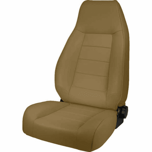 ( 1340207 ) High-Back Front Seat, Reclinable, Nutmeg, 76-02 Jeep CJ and Wrangler by Rugged Ridge