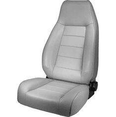 ( 1340209 ) High-Back Front Seat, Reclinable, Gray, 76-02 Jeep CJ and Wrangler by Rugged Ridge