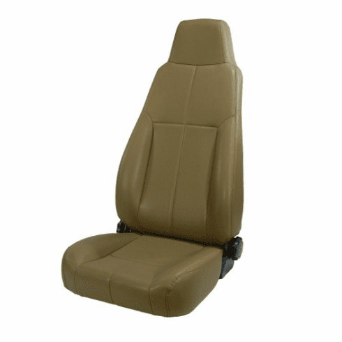 ( 1340337 ) High-Back Front Seat, Late Model Headrest, 76-02 Jeep CJ and Wrangler by Rugged Ridge