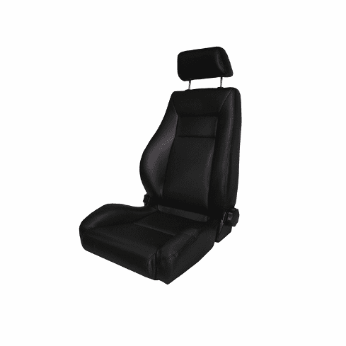 ( 1340401 ) Ultra Front Seat, Reclinable, Black, 76-02 Jeep CJ and Wrangler by Rugged Ridge