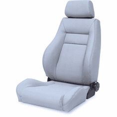 ( 1340409 ) Ultra Front Seat, Reclinable, Gray, 76-02 Jeep CJ and Wrangler by Rugged Ridge