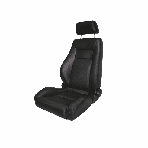 ( 1340415 ) Ultra Front Seat, Reclinable, Black Denim, 76-02 Jeep CJ and Wrangler by Rugged Ridge