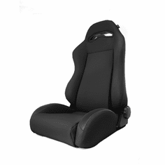 ( 1340515 ) Sport Front Seat, Reclinable, Black Denim, 76-02 Jeep CJ and Wrangler by Rugged Ridge