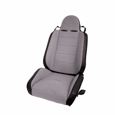 ( 1340609 ) RRC Off Road Racing Seat, Reclinable, Gray, 76-02 Jeep CJ and Wrangler by Rugged Ridge