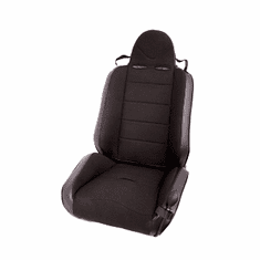 ( 1340615 ) RRC Off Road Racing Seat, Reclinable, Black, 76-02 Jeep CJ, Wrangler by Rugged Ridge