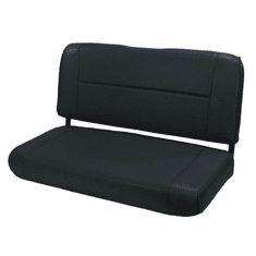 ( 1346101 ) Fixed Rear Seat, Black, 55-95 Jeep CJ and Wrangler by Rugged Ridge