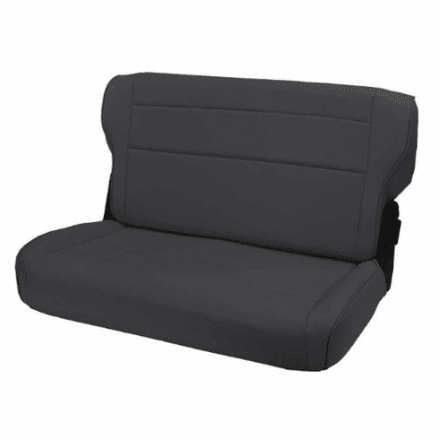 ( 1346215 ) Fold and Tumble Rear Seat, Black Denim, 76-95 Jeep CJ and Wrangler by Rugged Ridge