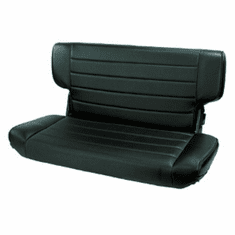 ( 1346315 ) Fold and Tumble Rear Seat, Black Denim, 97-02 Jeep Wrangler by Rugged Ridge