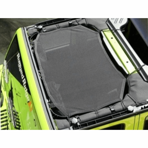 ( 1357904 ) Eclipse Sun Shade, Black, 07-18 Jeep Wrangler by Rugged Ridge