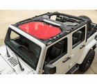 ( 1357924 ) Eclipse Sun Shade, Front, Red, 07-18 Jeep Wrangler JK by Rugged Ridge