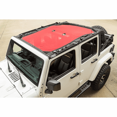 ( 1357925 ) Eclipse Sun Shade, Red, 4-Dr, 07-18 Jeep Wrangler JK by Rugged Ridge