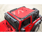( 1357926 ) Eclipse Sun Shade, Red, 2-Dr, 07-18 Jeep Wrangler JK by Rugged Ridge