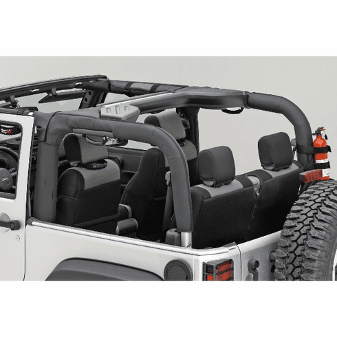 ( 1361302 ) Roll Bar Cover, Black Polyester, 07-18 Jeep Wrangler by Rugged Ridge