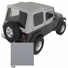 ( 1372109 ) XHD Soft Top, Charcoal, Clear Windows, 88-95 Jeep Wrangler by Rugged Ridge