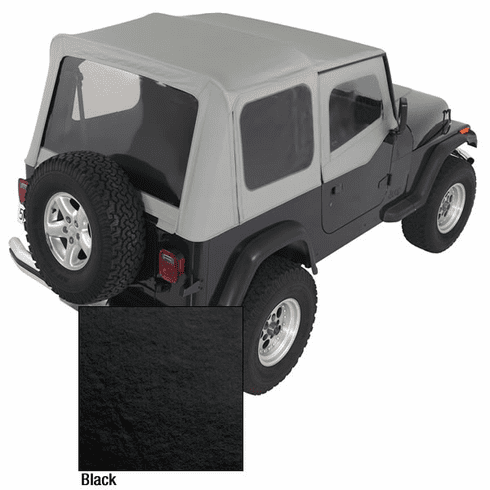( 1372115 ) XHD Soft Top, Black, Clear Windows, 88-95 Jeep Wrangler by Rugged Ridge