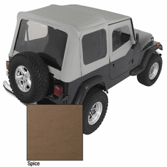 ( 1372137 ) XHD Soft Top, Spice, Clear Windows, 88-95 Jeep Wrangler by Rugged Ridge
