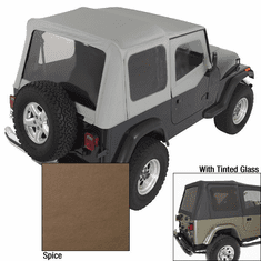 ( 1372237 ) XHD Soft Top, Spice, Tinted Windows, 88-95 Jeep Wrangler by Rugged Ridge