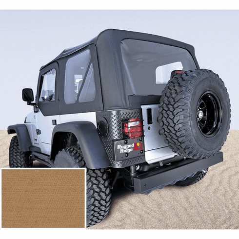 ( 1372337 ) XHD Soft Top, Spice, Clear Windows, 97-06 Jeep Wrangler by Rugged Ridge
