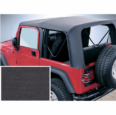 ( 1372515 ) XHD Soft Top, Black, Clear Windows, 97-06 Jeep Wrangler by Rugged Ridge