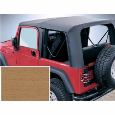 ( 1372537 ) XHD Soft Top, Spice, Clear Windows, 97-06 Jeep Wrangler by Rugged Ridge