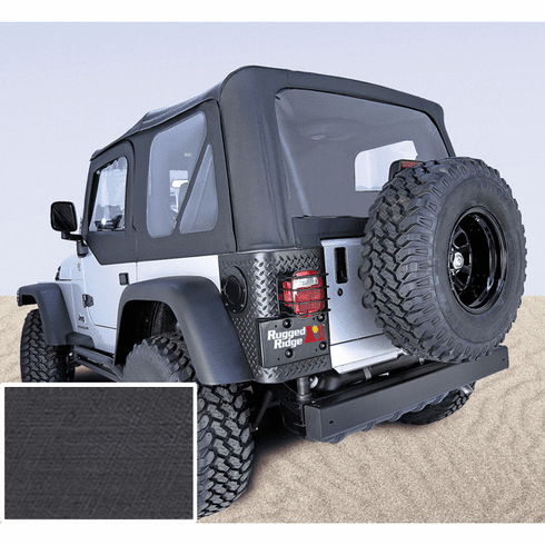 ( 1372735 ) XHD Soft Top, Black, Clear Windows, 97-06 Jeep Wrangler by Rugged Ridge