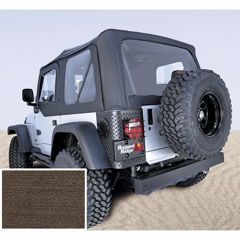 ( 1372736 ) XHD Soft Top, Khaki, Clear Windows, 97-06 Jeep Wrangler by Rugged Ridge