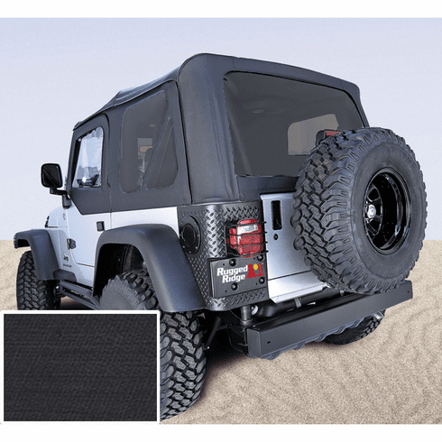 ( 1372835 ) XHD Soft Top, Black, Tinted Windows, 97-06 Jeep Wrangler by Rugged Ridge
