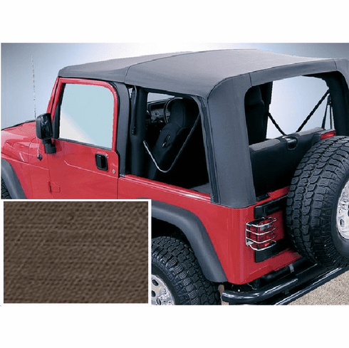 ( 1372936 ) XHD Soft Top, Khaki, Clear Windows, 97-06 Jeep Wrangler by Rugged Ridge