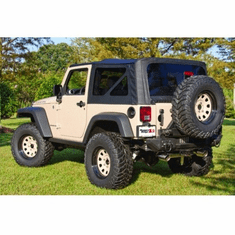( 1373601 ) XHD Sailcloth Replacement Top, Black, 07-09 Jeep Wrangler by Rugged Ridge