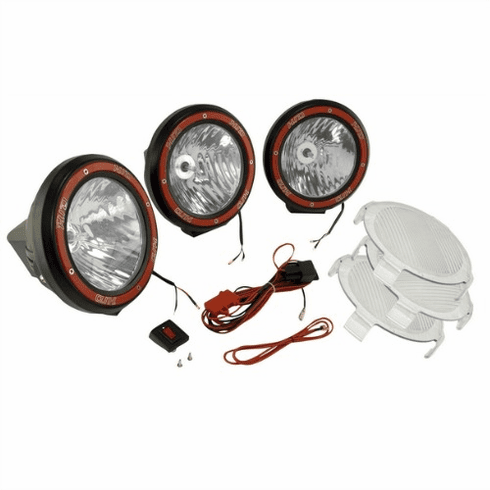 ( 1520554 ) 5-Inch Round HID Off Road Light Kit, Black Composite Housing by Rugged Ridge