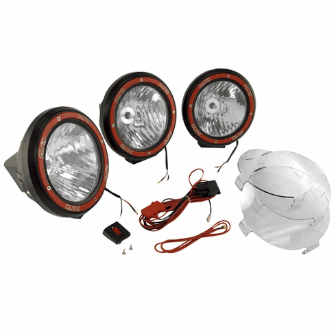 ( 1520563 ) 7-Inch Round HID Off Road Light Kit, Black Composite Housing by Rugged Ridge