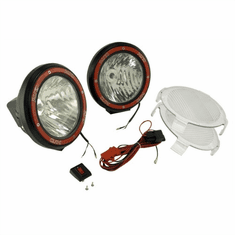 ( 1520564 ) 5-Inch Round HID Off Road Light Kit, Black Composite Housing by Rugged Ridge
