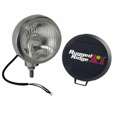 ( 1520601 ) 6-Inch Round HID Off Road Fog Light, Stainless Steel Housing by Rugged Ridge