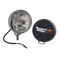 ( 1520602 ) 5-Inch Round HID Off Road Fog Light, Stainless Steel Housing by Rugged Ridge