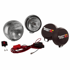 ( 1520651 ) 6-Inch Round HID Off Road Fog Light Kit, Stainless Steel Housing by Rugged Ridge