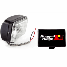 ( 1520705 ) 5-Inch x 7-Inch Halogen Fog Light, Black Steel Housing by Rugged Ridge