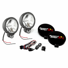 ( 1520751 ) 6-Inch Halogen Light Kit, Black Steel Housings by Rugged Ridge