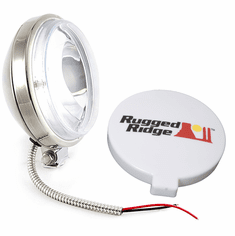 ( 1520810 ) 6-Inch Slim Halogen Fog Light, Stainless Steel Housing by Rugged Ridge