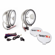 ( 1520851 ) 6-Inch Halogen Fog Light Kit, Stainless Steel Housings by Rugged Ridge
