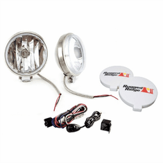 ( 1520858 ) 6-Inch Slim Halogen Fog Light Kit, Stainless Steel Housings by Rugged Ridge